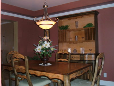 colonial dining painted